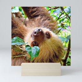 Awesome Sloth Mini Art Print
