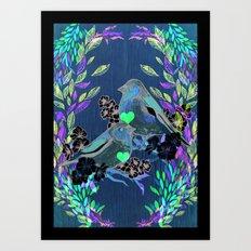 Floral Birds Art Print