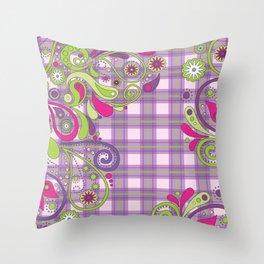 Paisley Plaid Throw Pillow