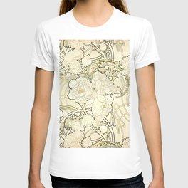 """Alphonse Mucha """"Peonies"""" T-shirt"""