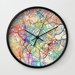 Rome Italy Street Map Wall Clock