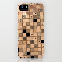 CROSSWORD LOVE iPhone Case