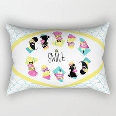 Hipster Smile Rectangular Pillow