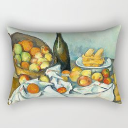 Basket of Apples Painting Paul Cezanne French Impressionism Still Life Painting Home Decor Kitchen Rectangular Pillow