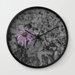 Chrome Daisy Wall Clock