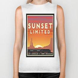Vintage poster - Sunset Limited Biker Tank