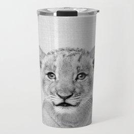 Baby Lion - Black & White Travel Mug