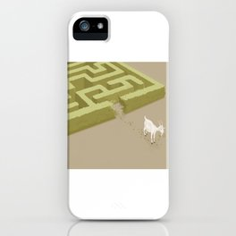 Do you solve problems by using logic or instinct? iPhone Case