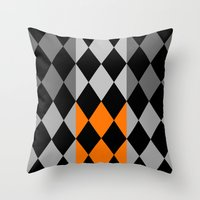 orange pattern Throw Pillows featuring Pattern orange by LoRo  Art & Pictures