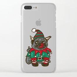 Elf puppy pug Clear iPhone Case