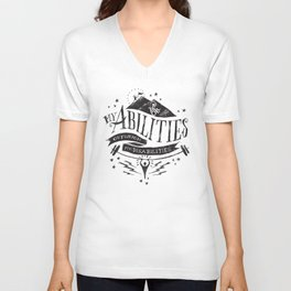 My Abilities Outweigh My Disabilities Unisex V-Neck