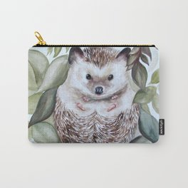 Hedgie in the Leaves Carry-All Pouch