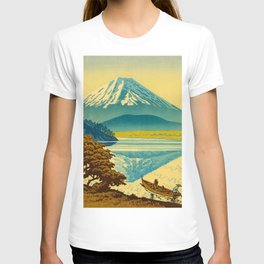 Japanese Woodblock Print Vintage Asian Art Colorful woodblock prints Mount Fuji T-shirt