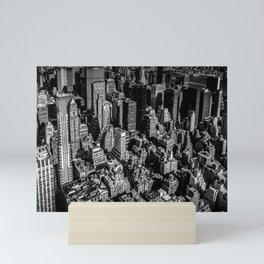 Manhattan Rooftop View Mini Art Print