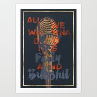 Party & Bullshit Art Print
