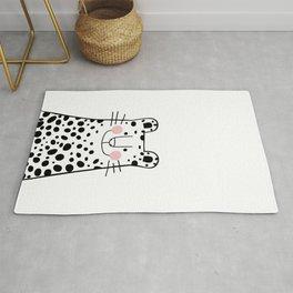 Cheetah Art Illustration, Safari Bold Animal Art Rug