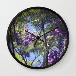 Jacaranda Tree II Wall Clock