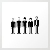 radiohead Art Prints featuring Radiohead by Band Land