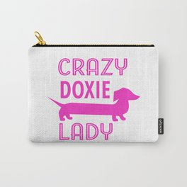 Crazy Dachshund Lady Carry-All Pouch