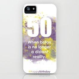 AgeIsJustANumber-50-PurpleThunderA iPhone Case
