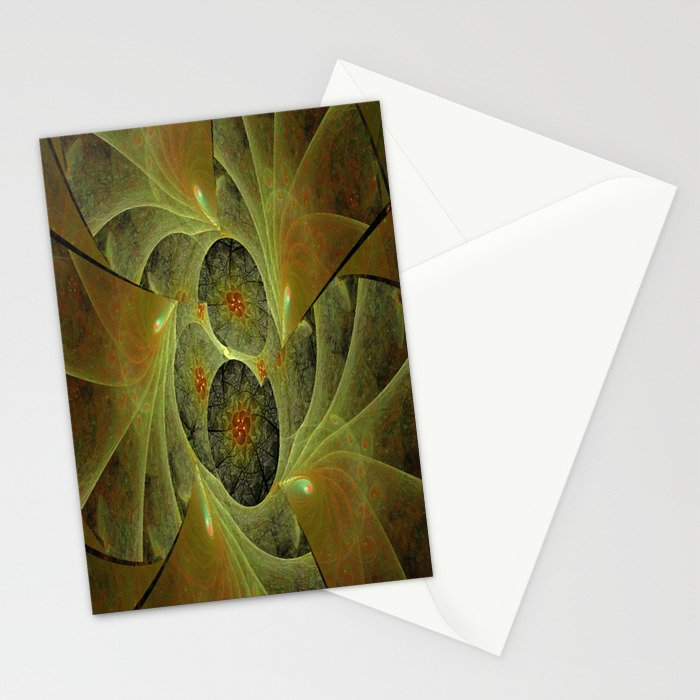 Beautimous With Green Stationery Cards