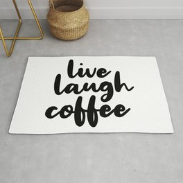 Live Laugh Coffee Rug