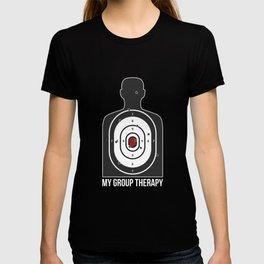 Group Therapy Shooting Range T-Shirt Funny Gun Shirts T-shirt