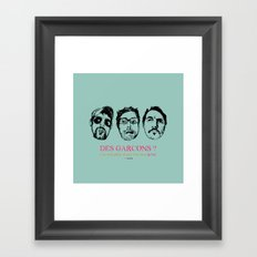 Boys, Boys, Boys Framed Art Print