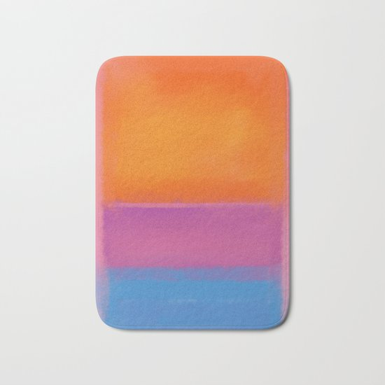 Rothko Interpretation Orange Blue Bath Mat