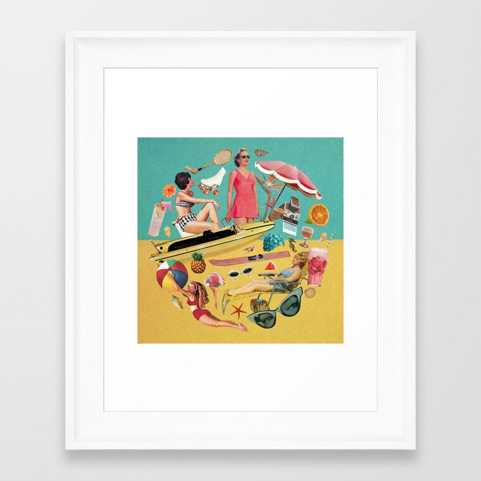 Out of Office Framed Art Print
