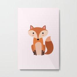 Fox art print Metal Print
