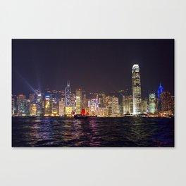 Hong Kong Night Skyline Canvas Print