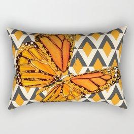 ORANGE FANTASY MONARCH BUTTERFLY ART DESIGN Rectangular Pillow