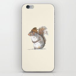 Squirrel with an Acorn Hat iPhone Skin