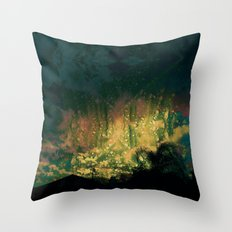 Rain In The bow Day Throw Pillow