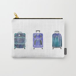 Let's Go Somewhere - Blue Carry-All Pouch