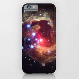 Red Supergiant Star V838 Monocerotis Deep Space Telescopic Photograph iPhone Case