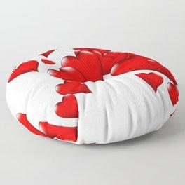MODERN ART RED VALENTINES HEART  DESIGN Floor Pillow