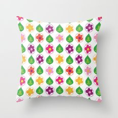 retro summer print Throw Pillow