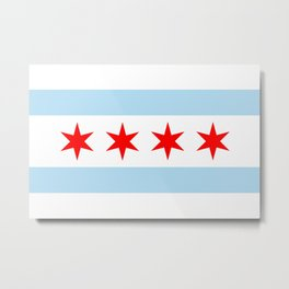 Chicago City Flag Windy City Standard Metal Print