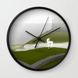 Creatures of the North: Unicorn Wall Clock