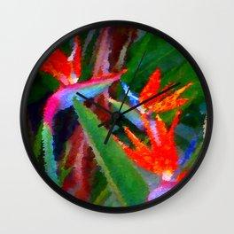 Bird of Paradise Family Abstract Wall Clock