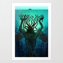 Lovecraft's Cthulhu Art Print