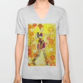 Psychedelic Dancer  Unisex V-Neck