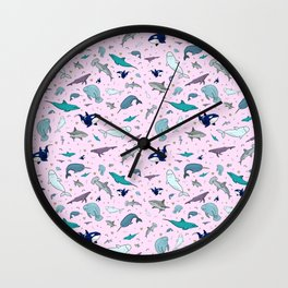 Marine Life Wall Clock