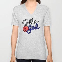 Baller Girl Unisex V-Neck