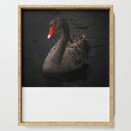 Black Swan Serving Tray