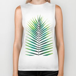 Tropical Palm Leaf #1 | Watercolor Painting Biker Tank