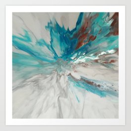 Blown Away - Abstract Acrylic Art by Fluid Nature Art Print