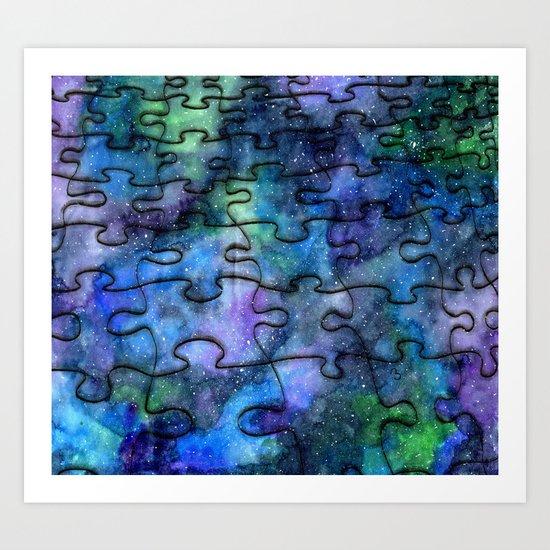 Puzzle Galaxy Art Print